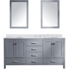 ANZZI Bathroom Vanities ANZZI Gray Bathroom Vanity  Front View V-CHN013-72