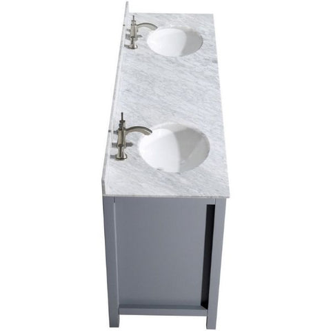 ANZZI Bathroom Vanities ANZZI Gray Bathroom Vanity   Sink Top View  V-CHN013-72