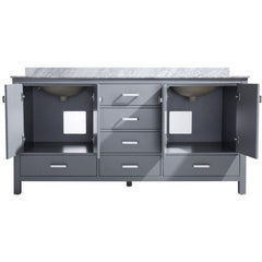 ANZZI Chateau 72 x 36 Rich Gray Double Bathroom Vanity V-CHN013-72