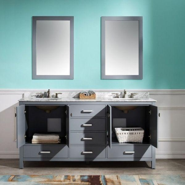 ANZZI Bathroom Vanities ANZZI Gray Bathroom Vanity V-CHN013-72 Front Storage View