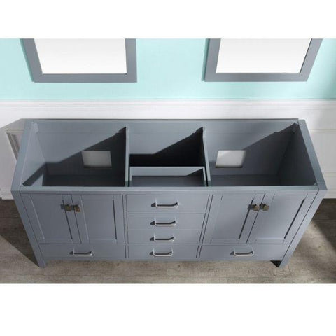 ANZZI Bathroom Vanities ANZZI Gray Bathroom Vanity V-CHN013-72 Top View