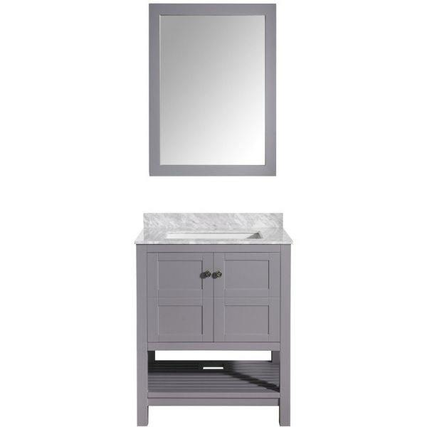 ANZZI Bathroom Vanities ANZZI Montaigne Bathroom Vanity Front View  in Rich Gray V-MGG013-30