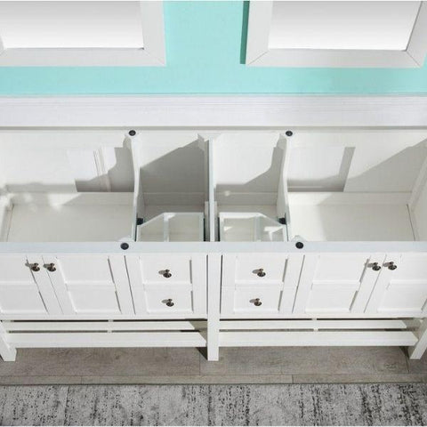 ANZZI Bathroom VanitiesA NZZI Montaigne White Bathroom Vanity Set Top View V-MGG011-72