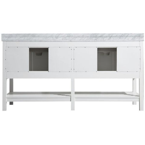 ANZZI Bathroom VanitiesA NZZI Montaigne White Bathroom Vanity Set V-MGG011-72 Back View