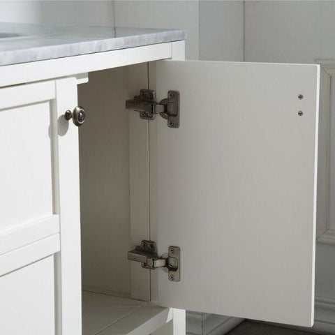 ANZZI Bathroom VanitiesA NZZI Montaigne White Bathroom Vanity Set V-MGG011-72 Storage Door Cabinet View