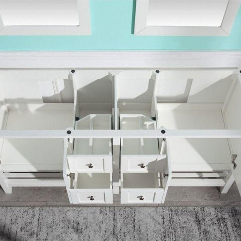 ANZZI Bathroom VanitiesA NZZI Montaigne White Bathroom Vanity Set V-MGG011-72 Storage Organizer Top View