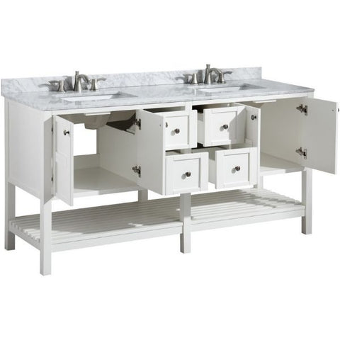 ANZZI Bathroom VanitiesA NZZI Montaigne White Bathroom Vanity Set V-MGG011-72 Storage Organizer View