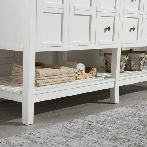 ANZZI Bathroom VanitiesA NZZI Montaigne White Bathroom Vanity Set V-MGG011-72 Storage Space View