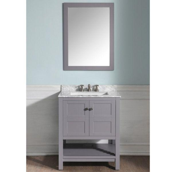 ANZZI Bathroom Vanities ANZZI Montaigne Bathroom Vanity in Rich  Gray Front View  V-MGG013-30