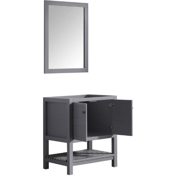 ANZZI Bathroom Vanities ANZZI Montaigne Bathroom Vanity in Rich  Gray V-MGG013-30 Side Cabinet View