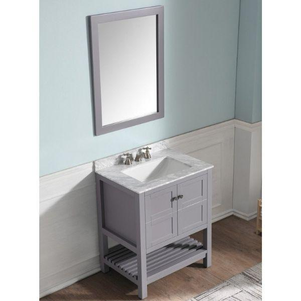 ANZZI Bathroom Vanities ANZZI Montaigne Bathroom Vanity in Rich  Gray V-MGG013-30 Side View