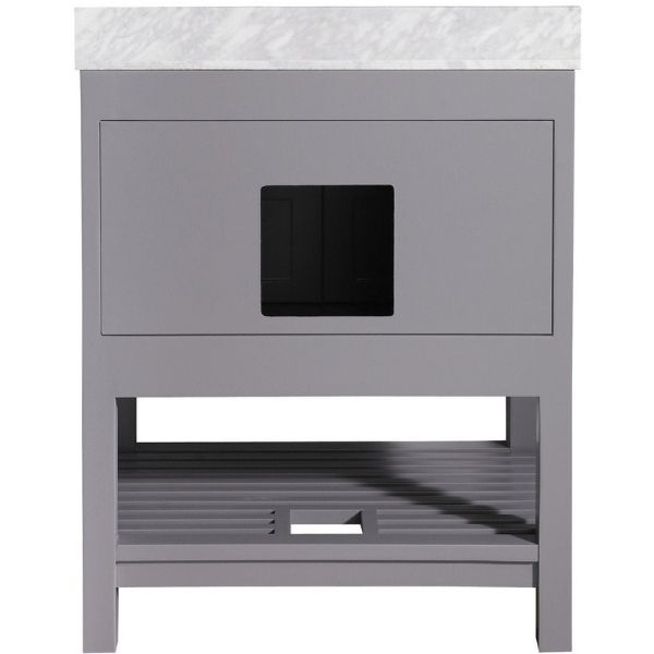 ANZZI Bathroom Vanities ANZZI Montaigne Bathroom Vanity in Rich  Gray V-MGG013-30 Wooden Scratch Shielding View