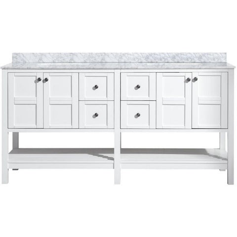 ANZZI Bathroom VanitiesA NZZI Montaigne White Bathroom Vanity Set Front View V-MGG011-72