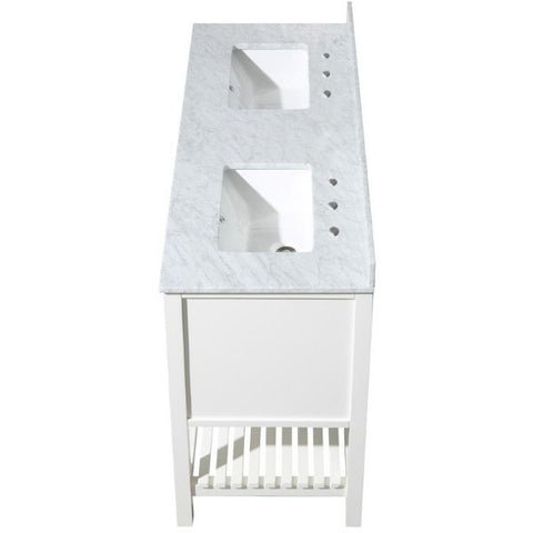 ANZZI Bathroom Vanities NZZI Montaigne White Bathroom Vanity Set Top Side View  V-MGG011-60