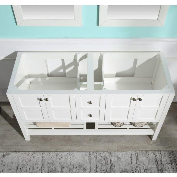 ANZZI Bathroom Vanities NZZI Montaigne White Bathroom Vanity Set Top View V-MGG011-60
