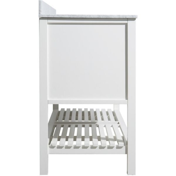 ANZZI Bathroom Vanities NZZI Montaigne White Bathroom Vanity Set V-MGG011-60  Ample Storage  Side View