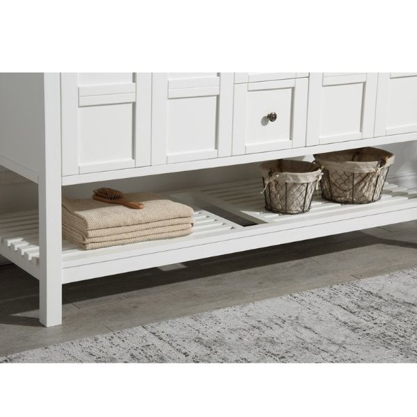 ANZZI Bathroom Vanities NZZI Montaigne White Bathroom Vanity Set V-MGG011-60  Ample Storage View