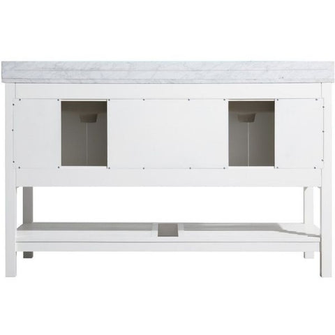 ANZZI Bathroom Vanities NZZI Montaigne White Bathroom Vanity Set V-MGG011-60  Back View