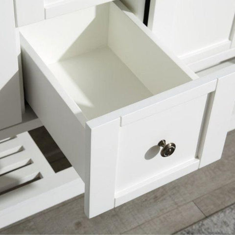 ANZZI Bathroom Vanities NZZI Montaigne White Bathroom Vanity Set V-MGG011-60  Drawer View