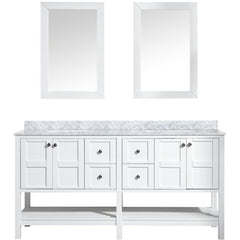 ANZZI Bathroom VanitiesA NZZI Montaigne White Bathroom Vanity Set V-MGG011-72 Front View