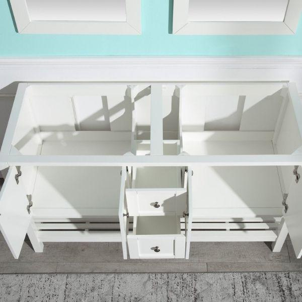 ANZZI Bathroom Vanities NZZI Montaigne White Bathroom Vanity Set top Storage View  V-MGG011-60