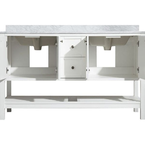 ANZZI Bathroom Vanities NZZI Montaigne White Bathroom Vanity Storage View Set V-MGG011-60