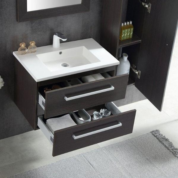 ANZZI Bathroom Vanities ANZZI Umber Bathroom Vanity  Sink and Drawer View V-CQA036-30