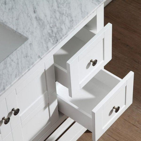 ANZZI Bathroom Vanities ANZZI White Bathroom Vanity Set  Drawer View V-MGG011-36