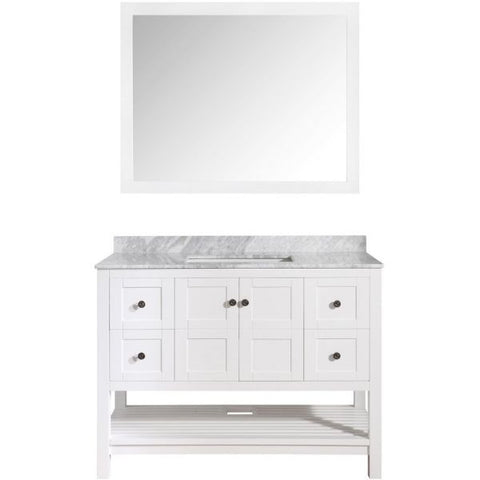 ANZZI Bathroom Vanities ANZZI White Bathroom Vanity Set Front View V-MGG011-36