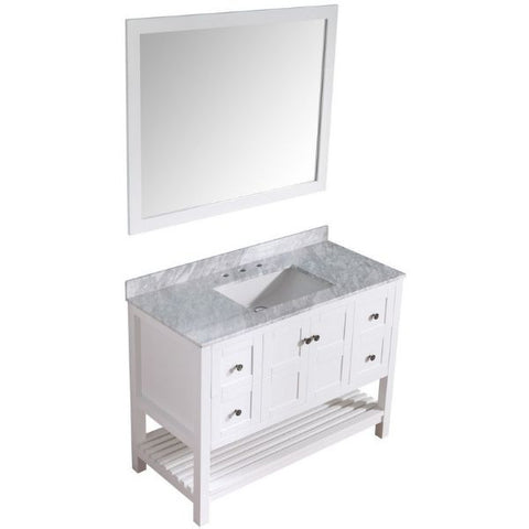 ANZZI Bathroom Vanities ANZZI White Bathroom Vanity Set Side Front View V-MGG011-36