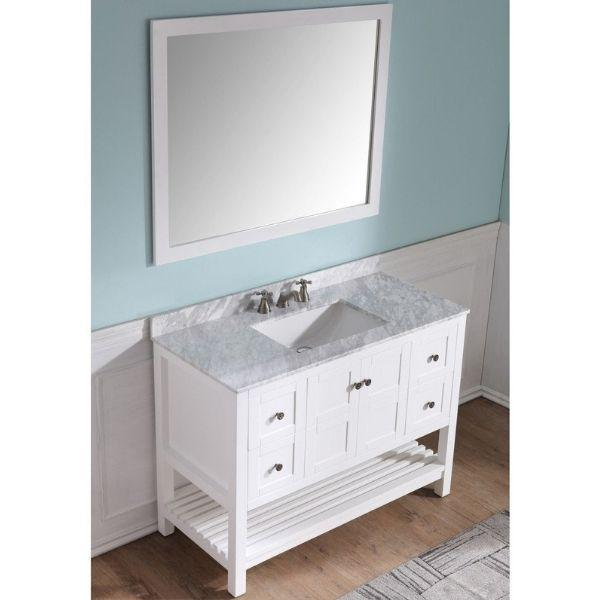 ANZZI Bathroom Vanities ANZZI White Bathroom Vanity Set V-MGG011-36 Front Side View
