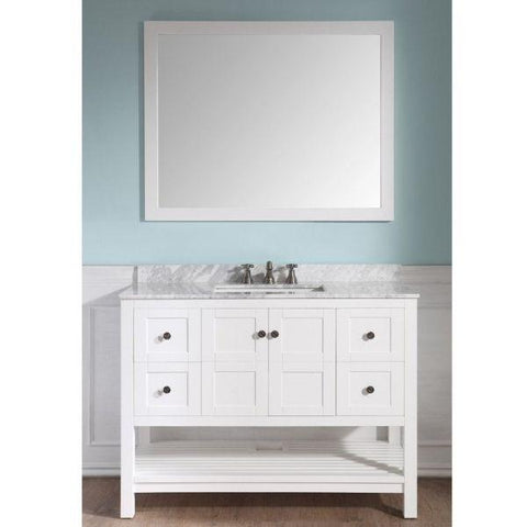 ANZZI Bathroom Vanities ANZZI White Bathroom Vanity Set V-MGG011-36 Front View