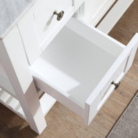 ANZZI Bathroom Vanities ANZZI White Bathroom Vanity Set Wood Drawer View  V-MGG011-36
