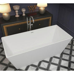 ANZZI Cenere Matte White Freestanding Bathtub FT-AZ501