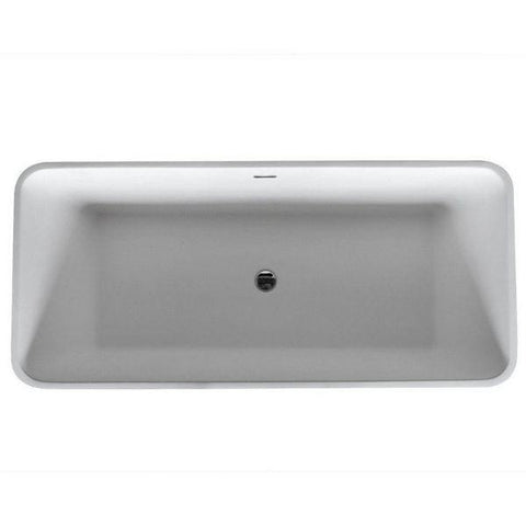 ANZZI Bathtubs ANZZI Cenere Matte White Freestanding Bathtub FT-AZ501 Top View