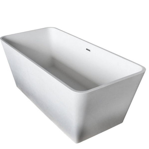 ANZZI Bathtubs ANZZI Cenere Matte White Freestanding Bathtub FT-AZ501