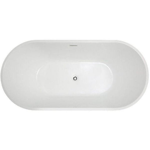 ANZZI Bathtubs ANZZI Chand White Freestanding Bathtub FT-AZ098 Top View
