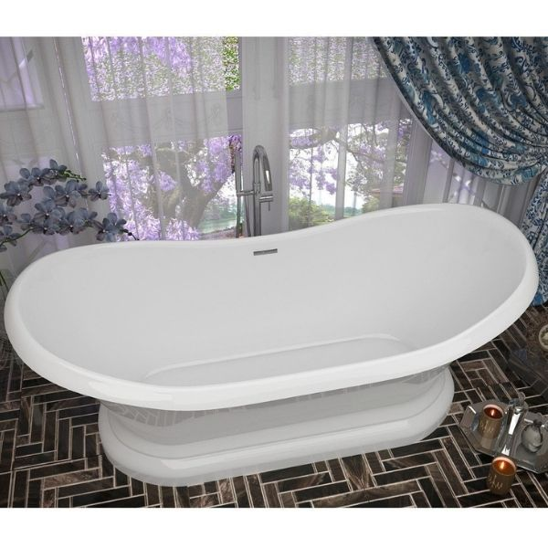 ANZZI Bathtubs ANZZI Freestanding Bathtub FT-AZ113 Front Top View
