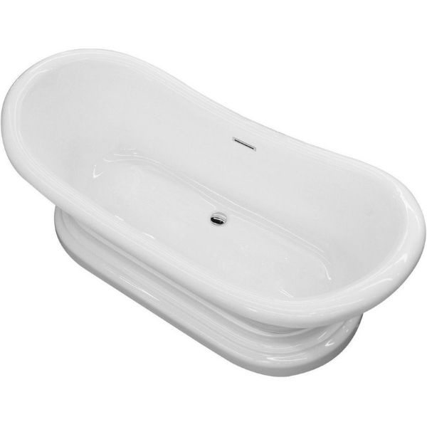 ANZZI Bathtubs ANZZI Freestanding Bathtub FT-AZ113 Side Top View