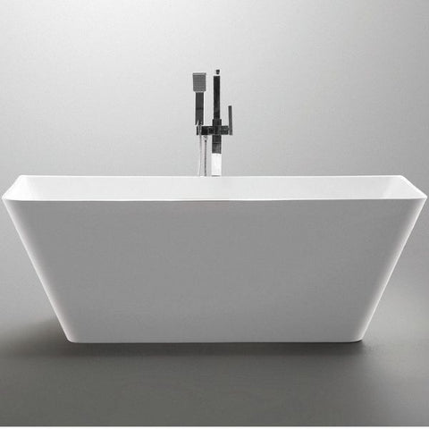 ANZZI Freestanding Bathtubs ANZZI Freestanding Bathtubin White FT-AZ099 Front View