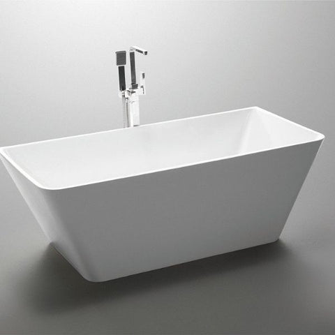ANZZI Freestanding Bathtubs ANZZI Freestanding Bathtubin White FT-AZ099 Side Top View