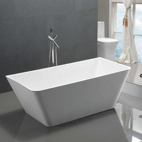 ANZZI Freestanding Bathtubs ANZZI Freestanding Bathtubin White FT-AZ099 Side View