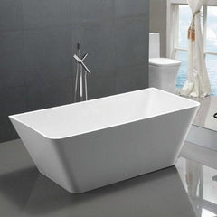 ANZZI Zenith Series White Freestanding Bathtub FT-AZ099