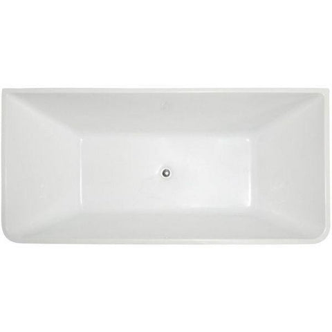 ANZZI Bathtubs ANZZI Zenith Series White Freestanding Bathtub FT-AZ099 Top View