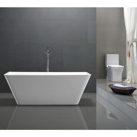 ANZZI Freestanding Bathtubs ANZZI Freestanding Bathtubin White Front View FT-AZ099