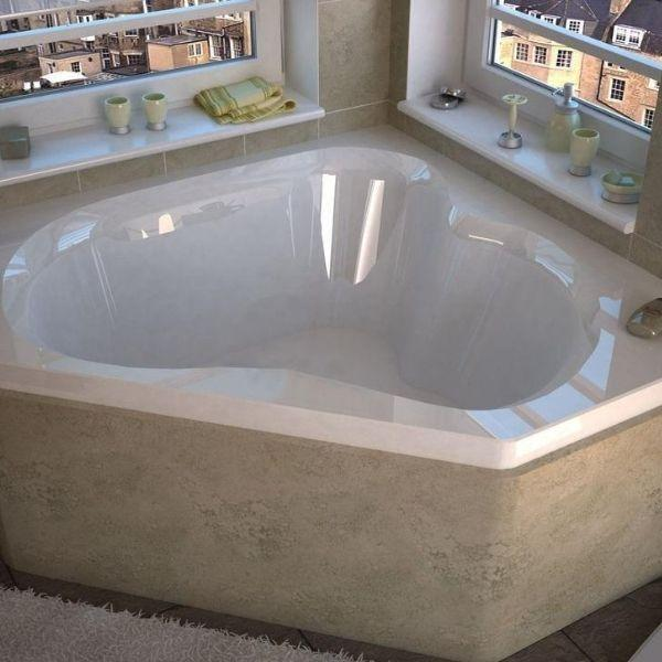 Atlantis Bathtubs Atlantis Whirlpools Cascade Corner Soakin Bathtub 6060C Front View