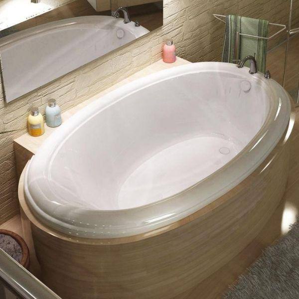 Atlantis Bathtubs Atlantis Whirlpools Petite Oval Soaking Bathtub 4478PC Top Side View