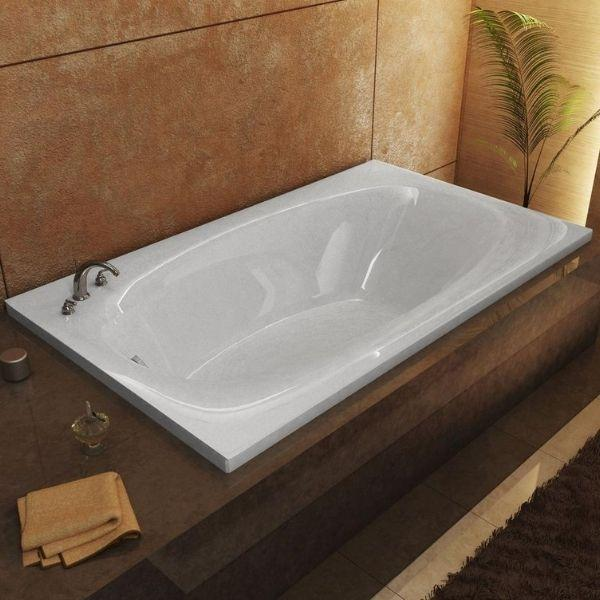 Atlantis Bathtubs Atlantis Whirlpools Polaris Rectangular Soaking Bathtub  4272P Top Side View