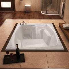 Atlantis Bathtubs Atlantis Whirlpools Rectangular Soaking Bathtub 5472C Side Top View