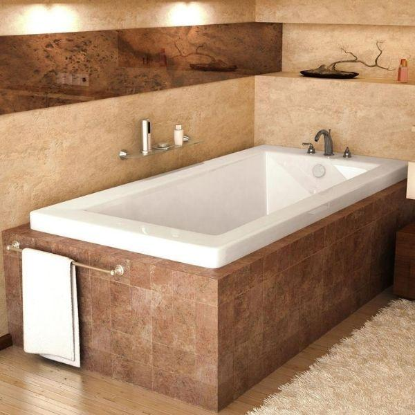 Atlantis Bathtubs Atlantis Whirlpools Venetian Rectangular Soaking Bathtub 3666VN Front Side View